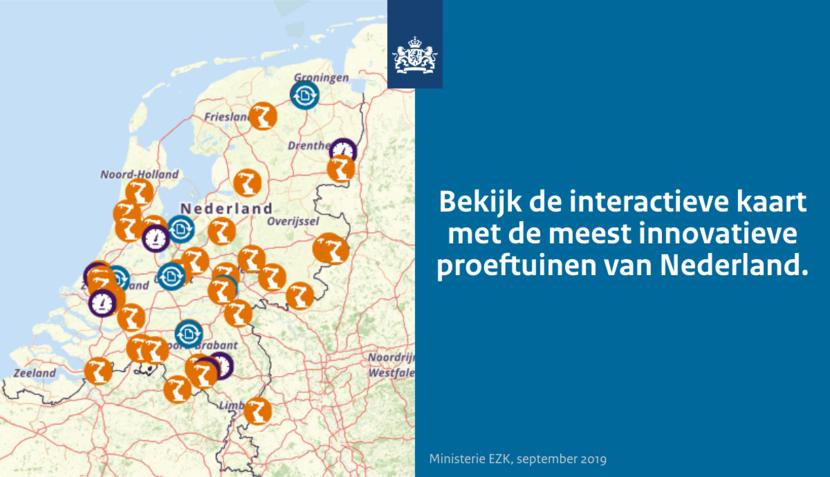 Proeftuinkaart Nederland